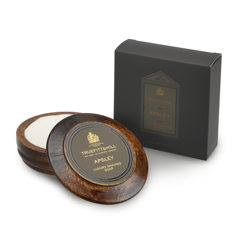 Apsley Luxury Shaving Soap In Wooden Bowl